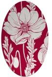 rug #930045   oval red rug