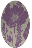 rug #930109 | oval purple natural rug