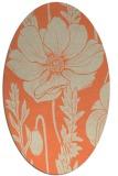 rug #930133 | oval orange rug