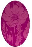 rug #930141 | oval pink rug