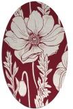 rug #930145 | oval pink natural rug