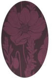 rug #930157 | oval purple graphic rug