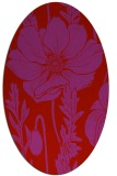 rug #930185 | oval red graphic rug