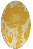 rug #930229 | oval yellow natural rug