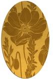 rug #930245 | oval yellow graphic rug