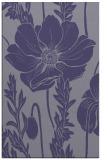 rug #930377 |  blue-violet graphic rug