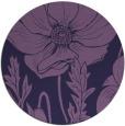 rug #930745 | round purple natural rug