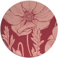 rug #930869 | round pink rug