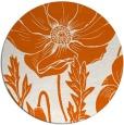 rug #930921 | round red-orange graphic rug