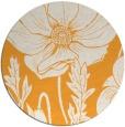 rug #931001 | round light-orange natural rug