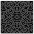 rug #933173   square black damask rug