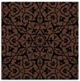 rug #933181 | square black damask rug