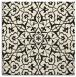 rug #933189 | square black damask rug
