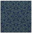 rug #933205   square blue geometry rug
