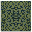 rug #933209 | square blue damask rug