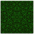 rug #933225 | square green traditional rug