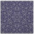 rug #933257   square blue-violet damask rug