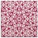 rug #933285 | square red damask rug