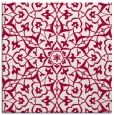 rug #933285 | square red traditional rug