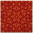 rug #933365   square red-orange damask rug