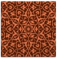 rug #933377 | square red-orange damask rug
