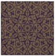 rug #933405 | square purple damask rug