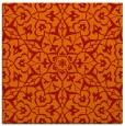 rug #933417 | square red traditional rug