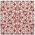rug #933421 | square red traditional rug
