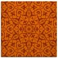 rug #933429 | square red-orange damask rug