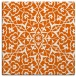 rug #933441 | square red-orange geometry rug