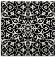 rug #933445 | square black damask rug