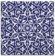 rug #933453 | square blue damask rug