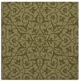 rug #933505 | square light-green damask rug