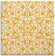 rug #933509 | square light-orange damask rug