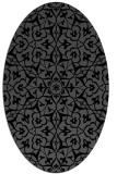rug #933533 | oval black traditional rug