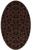 rug #933541 | oval brown damask rug
