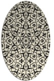 rug #933549 | oval black traditional rug