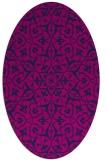 rug #933561   oval pink damask rug