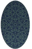 rug #933565 | oval blue traditional rug