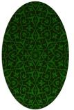 rug #933585 | oval green damask rug