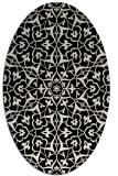 rug #933589 | oval blue-green rug