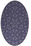 rug #933617 | oval blue-violet traditional rug