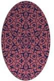 rug #933621 | oval blue-violet damask rug