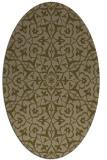 rug #933641   oval brown damask rug