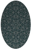 rug #933657 | oval green traditional rug