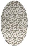 rug #933681 | oval white traditional rug