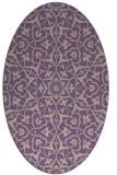 rug #933709 | oval purple damask rug