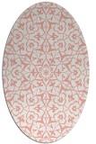 rug #933753 | oval white damask rug