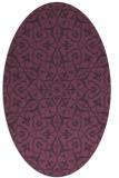 rug #933757 | oval purple geometry rug