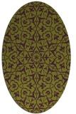 rug #933761 | oval green damask rug